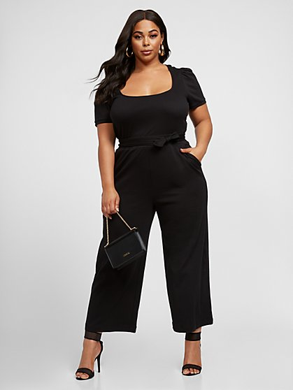 Plus Size Annabelle Culotte Jumpsuit - Fashion To Figure