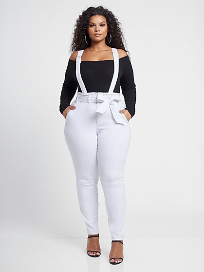 Plus Size Annabelle Paperbag Waist Overalls - Fashion To Figure