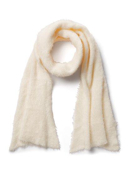 Plus Size Beige Fuzzy Scarf - Fashion To Figure