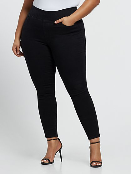 Plus Size Black High-Rise Jeggings - Fashion To Figure