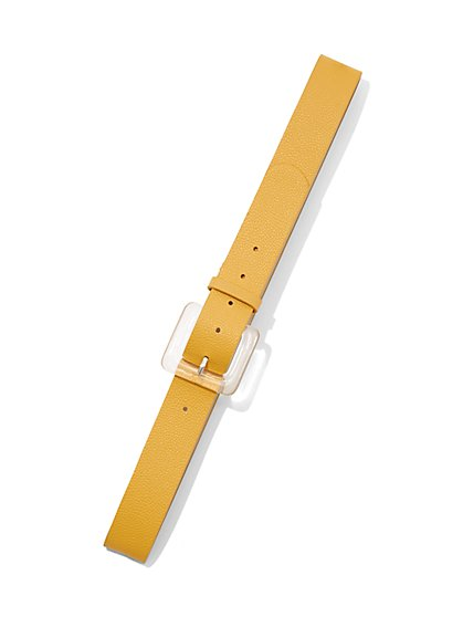 Plus Size Clear Buckle Belt - Fashion To Figure
