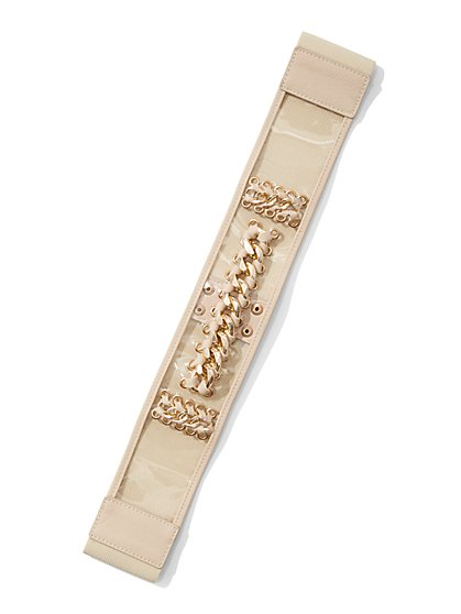 Plus Size Curb Chain Stretch Belt - Fashion To Figure