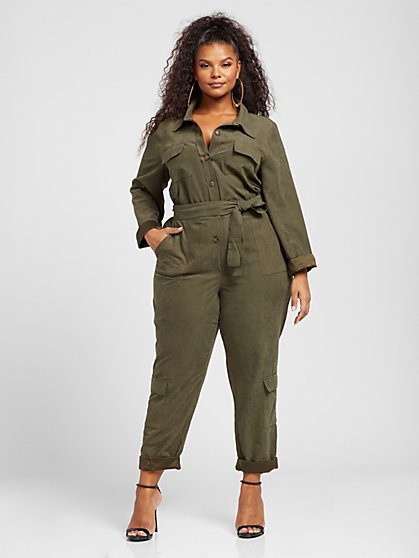 Plus Size Dalia Cargo Jumpsuit - Gabrielle Union x FTF - Fashion To Figure