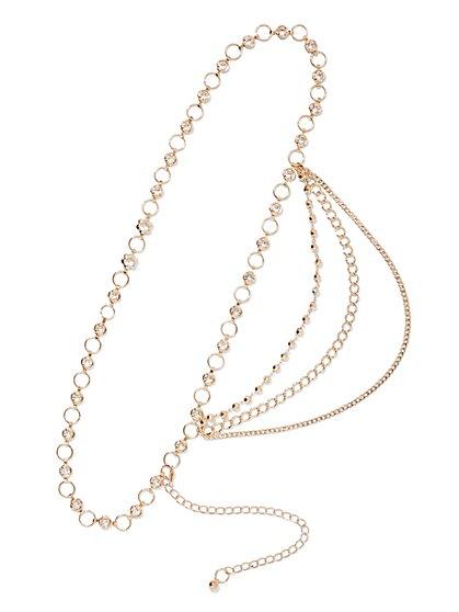 Plus Size Gold Chain Belt - Fashion To Figure