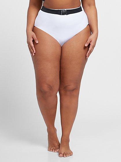 Plus Size Kylie Belted Bikini Bottom - Fashion To Figure