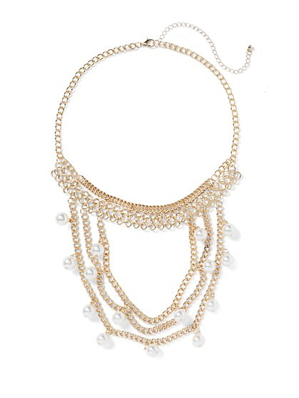 Plus Size Layered Faux-Pearl Necklace - Fashion To Figure