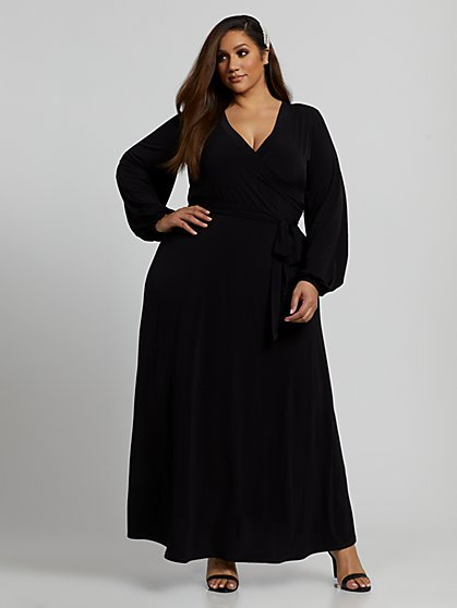 Plus Size Mila Wrap Maxi Dress - Fashion To Figure