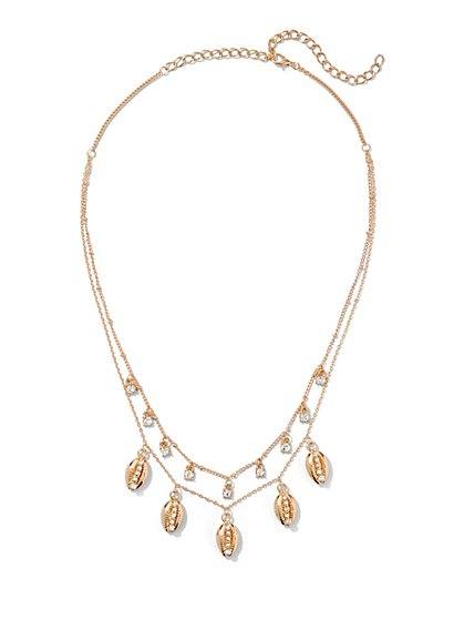 Plus Size Multi-Layered Shell Necklace - Fashion To Figure