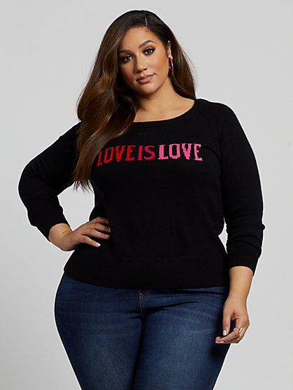 Plus Size Nora Love is Love Sweater - Fashion To Figure