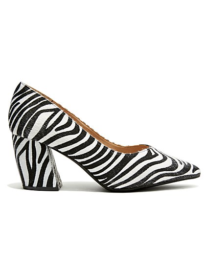 Plus Size On Point - Zebra Block Heel - Fashion To Figure