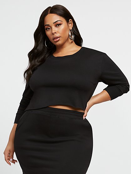 Plus Size Petra French Terry Pullover - Fashion To Figure