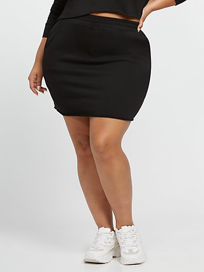 Plus Size Petra French Terry Skirt - Fashion To Figure