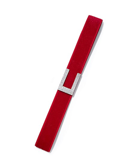 Plus Size Red Rhinestone Buckle Belt - Fashion To Figure