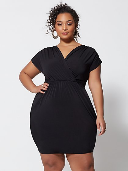 Plus Size Shiloh Draped Bodycon Dress - Fashion To Figure