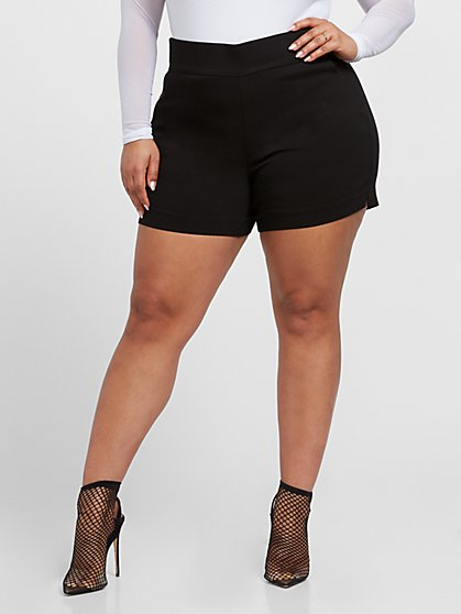 Plus Size The City Black Short Shorts - Fashion To Figure