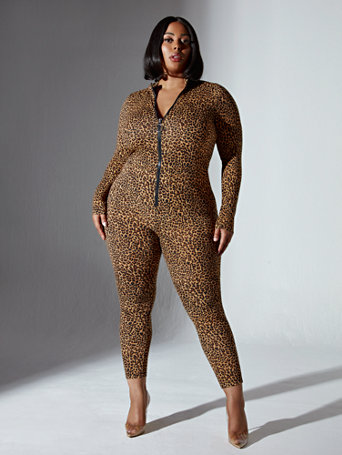 Brandee Cheetah Print Catsuit in Brown Size 1