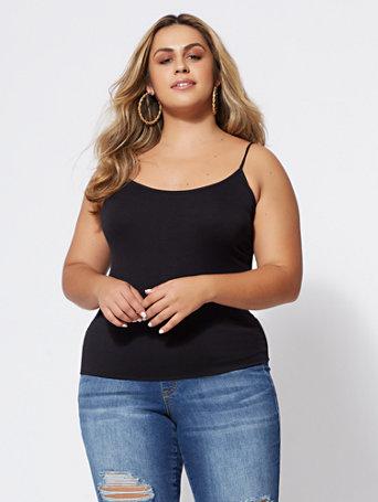 Signature - Seamless Cami - BLACK Size 2/3 - Womens Shirts & Tops