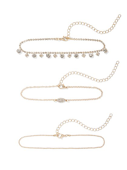 Plus Size 3 Piece Anklet Set - Fashion To Figure