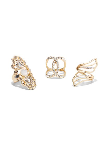Plus Size 3-Piece Ring Set - Fashion To Figure