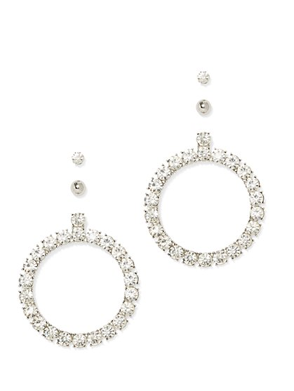 Plus Size 3-piece Circle Earring Set - Fashion To Figure