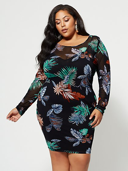 Plus Size 58.90 L/S MSH BDYCN DRS - Fashion To Figure