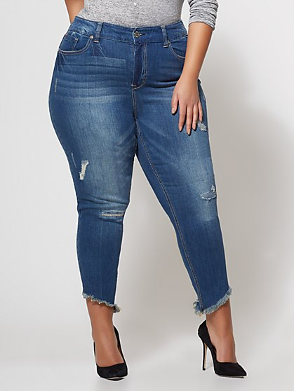 Plus Size 79.00 HIRISE FRAY SLNT HM - Fashion To Figure