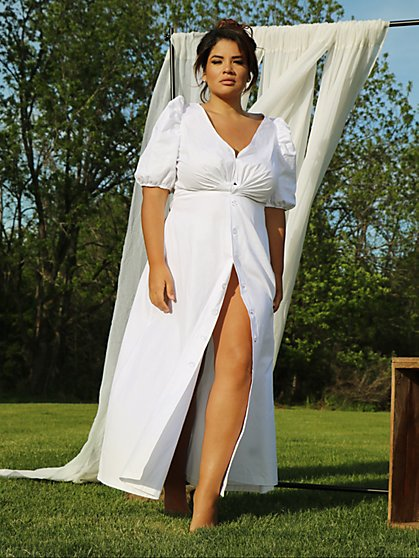 Plus Size 79.95 BLLN SLV MAXI DRESS - Fashion To Figure