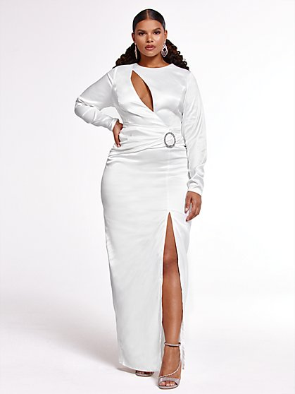 Plus Size A Forever Thing Fitted Gown x FTF - Fashion To Figure