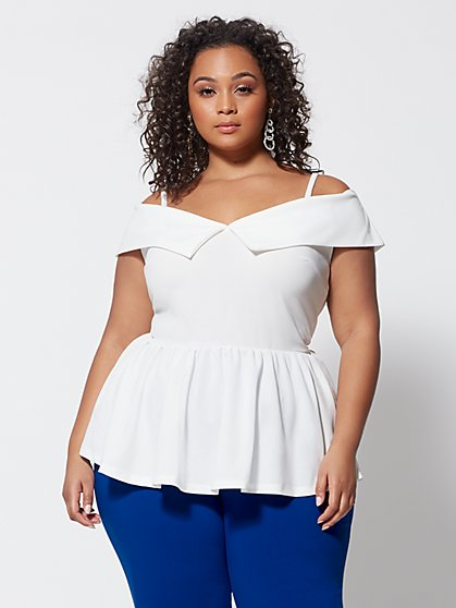 Plus Size Abigayle Peplum Top - Fashion To Figure