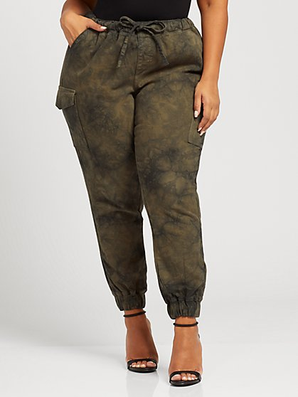 Plus Size Ada Tie Dye Jogger - Fashion To Figure