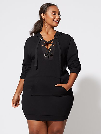 Plus Size Addison Sweatshirt Dress - Fashion To Figure
