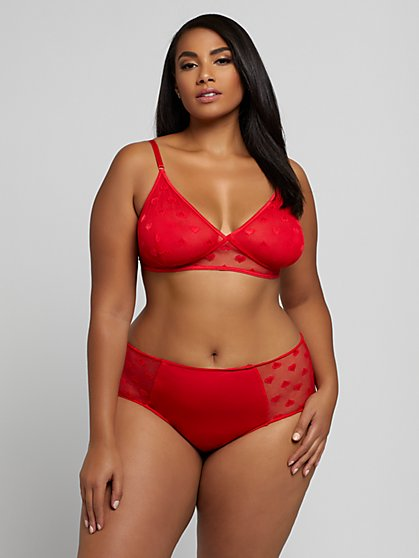 Plus Size Adriana Bralette and Panty Set - Fashion To Figure