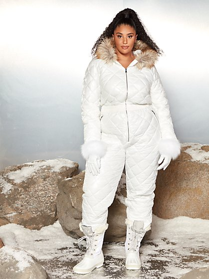 Plus Size Aja Snowsuit with Fur Hood - Garnerstyle x FTF - Fashion To Figure