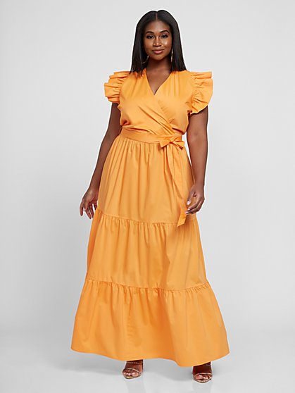 Plus Size Akira Poplin Maxi Dress - Fashion To Figure