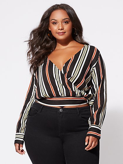 Plus Size Alexandra Wrap-Front Top - Fashion To Figure