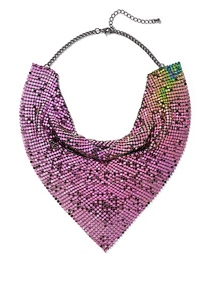 Plus Size Alien Mesh Bib Necklace - Fashion To Figure