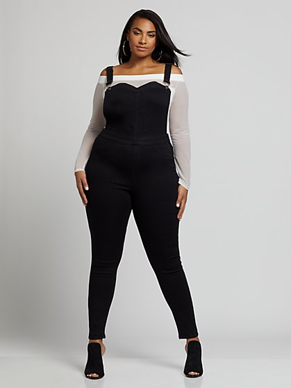 Plus Size Alisa Sweetheart Overalls - Fashion To Figure