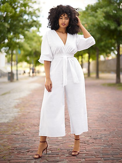 Plus Size Alise Wide Leg Jumpsuit - Gabrielle Union x FTF - Fashion To Figure
