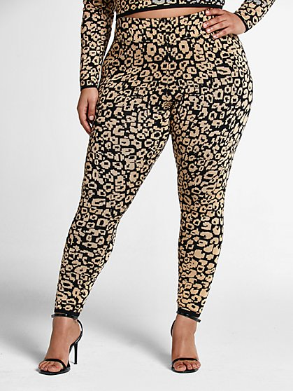 Plus Size Alyssa Leopard Print Joggers - Fashion To Figure