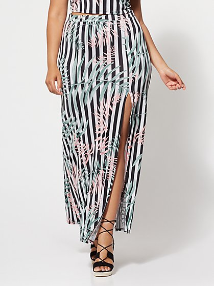 Plus Size Amalia Tropical Maxi Skirt - Fashion To Figure