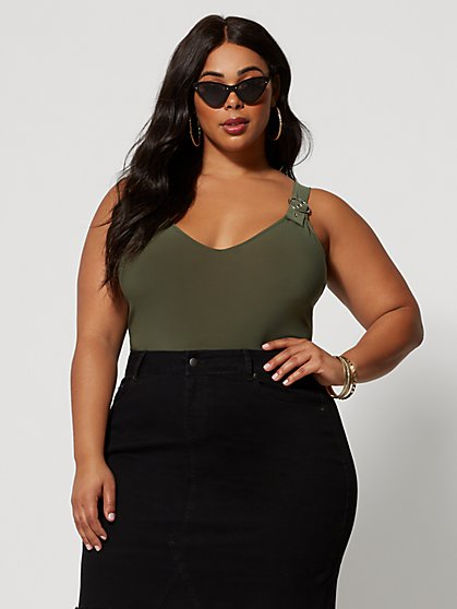 Plus Size Amare Utility Bodysuit - Fashion To Figure