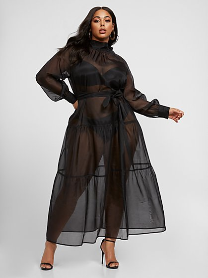 Plus Size Amaris Organza Maxi Dress - Fashion To Figure
