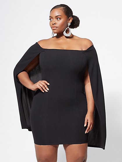 Plus Size Amina Cape Dress - Fashion To Figure
