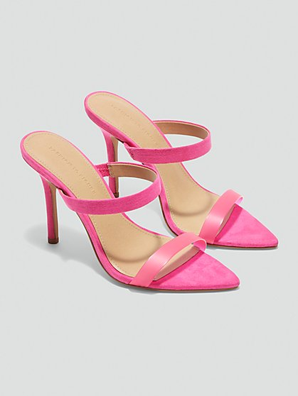 Plus Size Amira Double Strap Sandals in Pink - Fashion To Figure