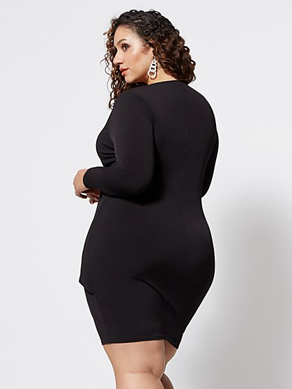 ab081125c93 ... Plus Size Amya Drape Bodycon Dress - Fashion To Figure ...