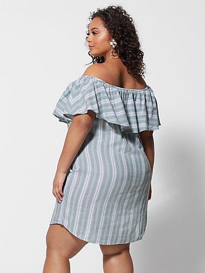 4c916ed5186c ... Plus Size Anabel Off Shoulder Ruffle Dress - Fashion To Figure ...