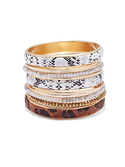 Plus Size Animal Bangle Bracelet Set - Fashion To Figure