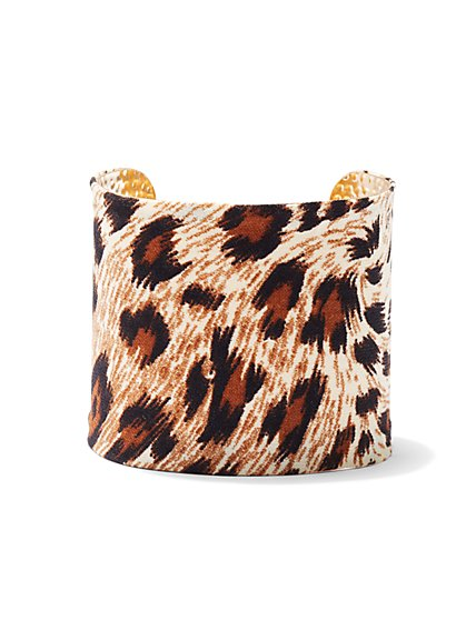 Plus Size Animal Print Cuff - Fashion To Figure