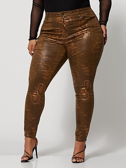 Plus Size Animal Print High-Rise Skinny Jeans - Fashion To Figure