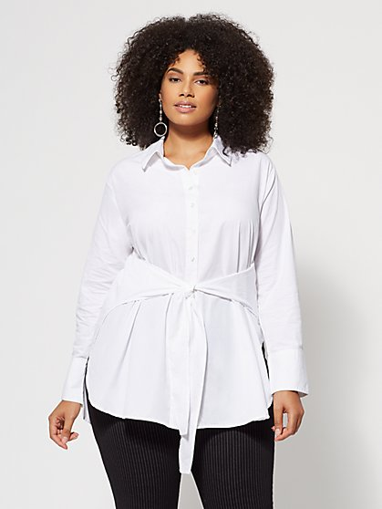 Plus Size Anna Tie-Front Tunic - Fashion To Figure